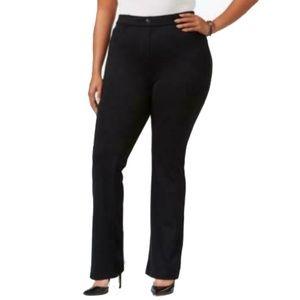 Women's Plus Slim Fit Bootcut Straight Pants